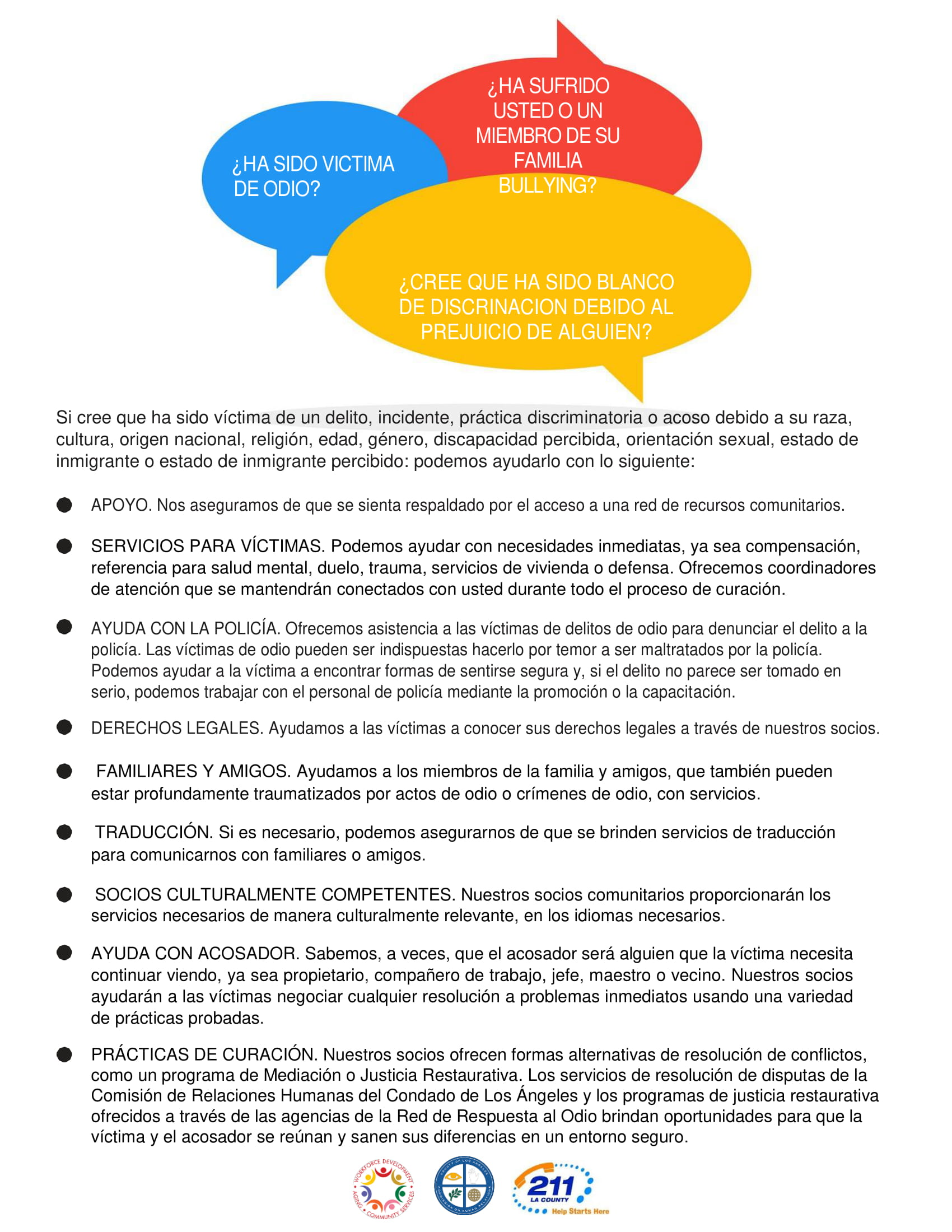 support services flyer image in spanish