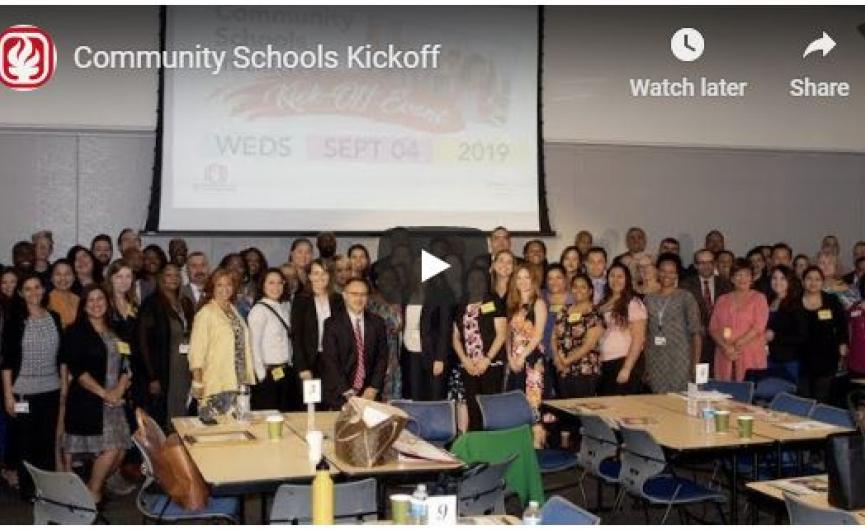 Community Schools Initiative Kickoff Event Video Image