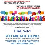 report hate flyer image in english